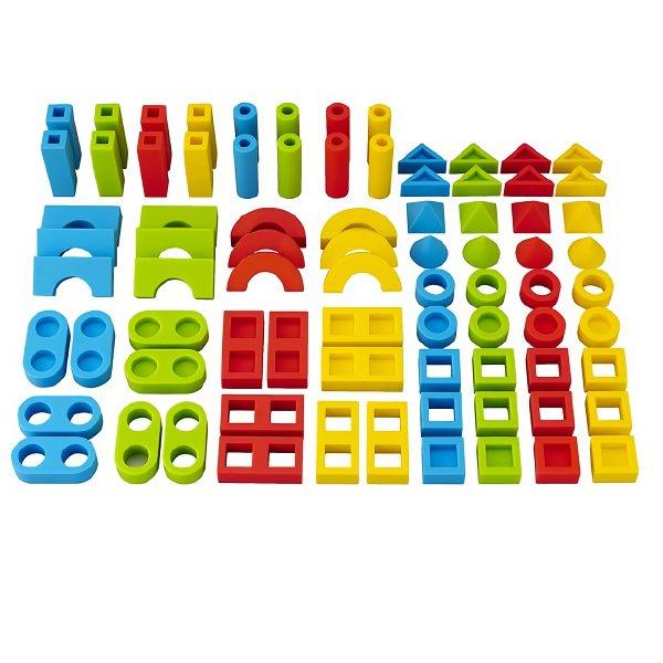 [Ed.inter エドインター]シリコン ブロックセット 保育園 幼稚園 施設向け 積み木 収納ボックス セット