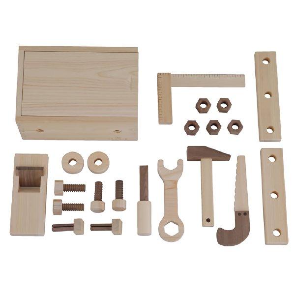 [IKONIH アイコニー ] 大工セット 名入れセット 木製 工具セット 大工さんごっこ 木製 檜 ひのき 日本産ひのき
