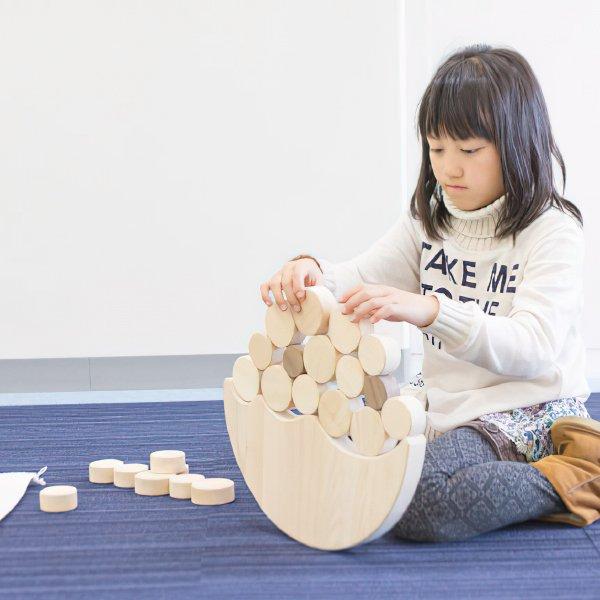[IKONIH アイコニー ] ジャンボなみのりバブル 名入れセット バランス ゲーム 木製 檜 ひのき 日本産ひのき