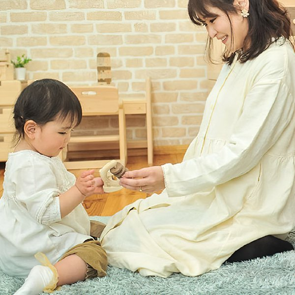 [IKONIH アイコニー ] ガラガラシリーズ ラトル 歯固め 赤ちゃん おもちゃ 檜 ひのき 日本産ひのき