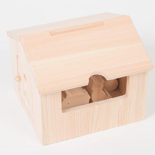 [IKONIH アイコニー ] アイコニーハウス 名入れセット ごっこ遊び ドールハウス 木箱  つみき 木製 檜 ひのき 日本産ひのき