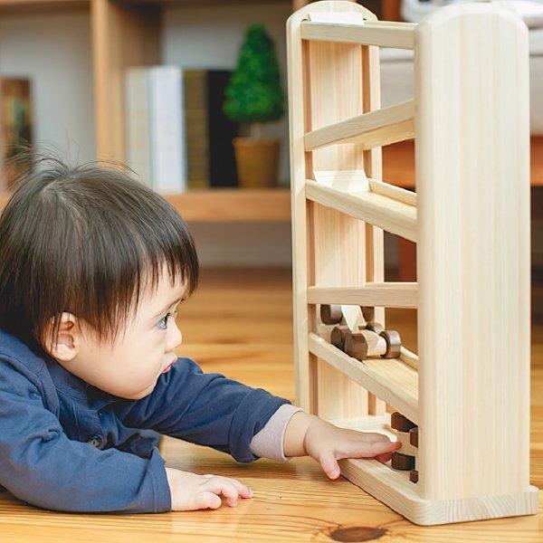 [IKONIH アイコニー ] ひのきコースター 名入れセット スロープ ボール転がし 玉転がし 木製 檜 ひのき 日本産ひのき