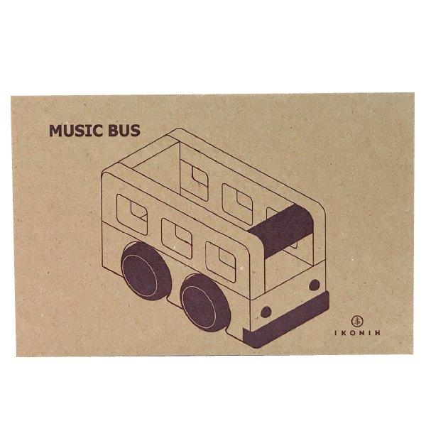 [IKONIH アイコニー ] オルゴールバス 曲目となりのトトロ 名入れセット プッシュトイ 働く車 木製 檜 ひのき 日本産ひのき