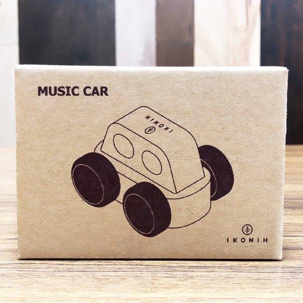 [IKONIH アイコニー ] オルゴールカー 曲目 海の見える街 (「魔女の宅急便」より)  プッシュトイ 働く車 木製 檜 ひのき 日本産ひのき
