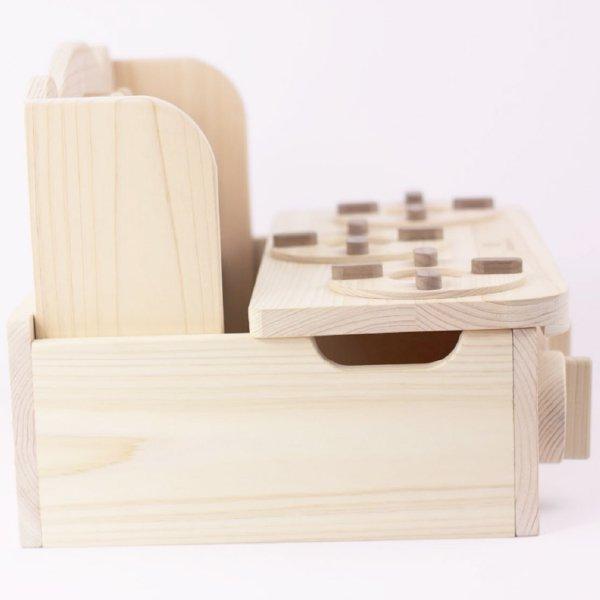 [IKONIH アイコニー ] 木製ままごと ミニキッチン 名入れセット さっくり食材 包丁 まな板 木箱 木製 檜 ひのき 日本産ひのき