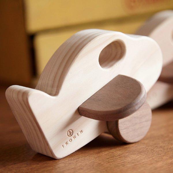 [IKONIH アイコニー ] アクティブセット 木製 檜 ひのき 日本産ひのき 大工さん 工具セット ごっこ遊び 車