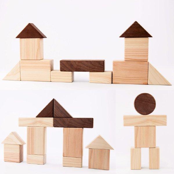 [IKONIH アイコニー ] ベビーセット 名入れセット 木製 檜 ひのき 日本産ひのき ガラガラ ラトル 歯固め 積み木 木箱 出産祝い