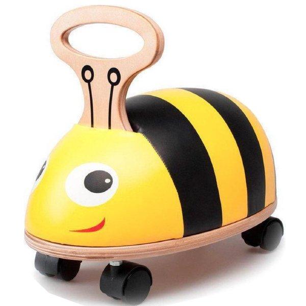 [ Skipper スキッパー ] ライドアンドロール ビー 名入れセット はち 室内 常用玩具 木製4輪車 足漕ぎ自動車