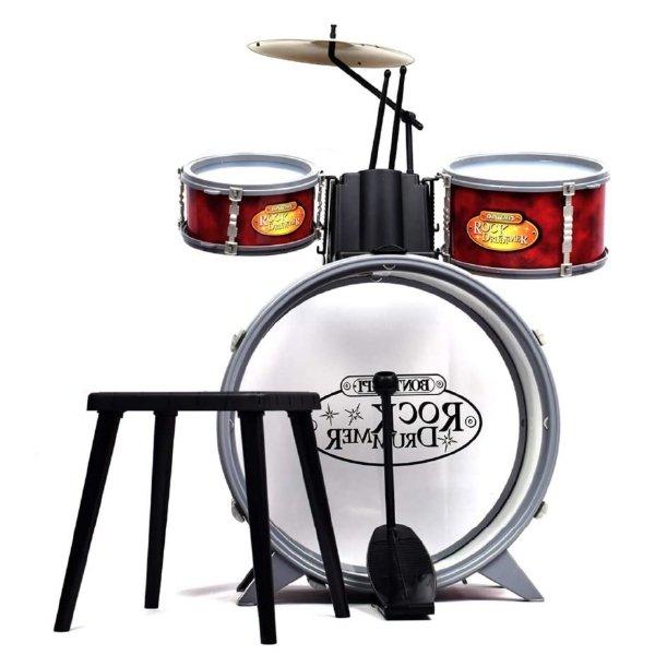 [ bontempi ボンテンピ ]ロックドラム 子供用楽器 3歳から 楽器 ドラムセット ドラムス 打楽器 たいこ おもちゃ 知育玩具