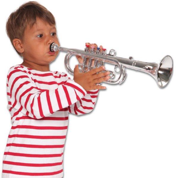 [ bontempi ボンテンピ ]シルバートランペット 4keys 42cm 【324231】 子供用楽器 3歳から 吹奏楽器 管楽器 おもちゃ 知育玩具