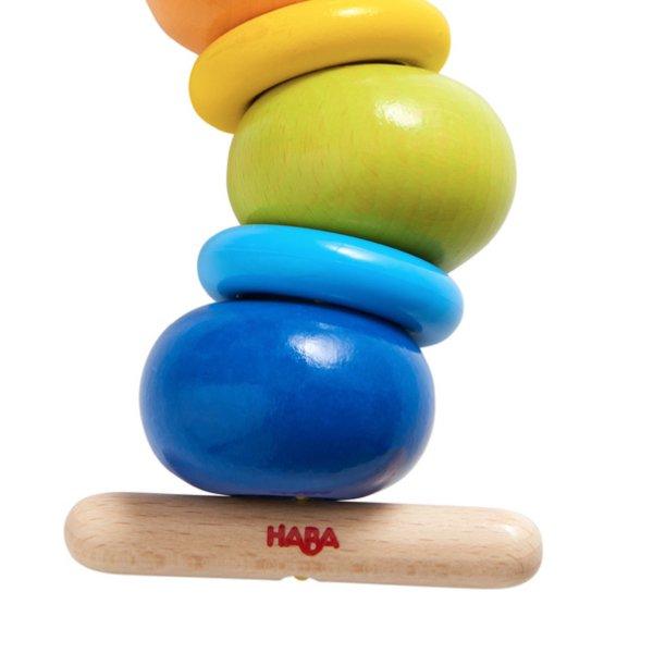 [ HABA ハバ ] ひも通し いも虫 ドイツ 2歳 ブラザージョルダン スリングラトル スレッディング
