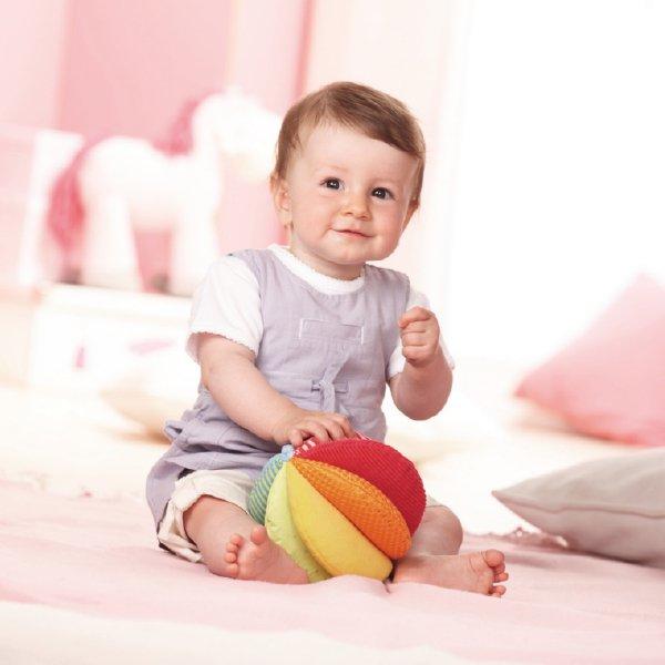 [ HABA ハバ ]  クローストイ ボール レインボー ドイツ 6ヶ月 半年 ブラザージョルダン ベビートイ 布のおもちゃ