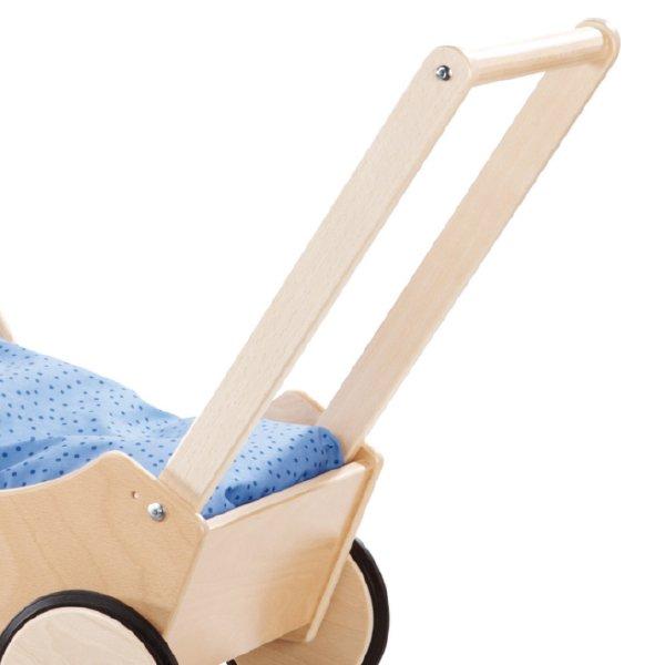 [ HABA ハバ ]  乳母車 白木 名入れセットドイツ 1歳 ブラザージョルダン   ドールベッド ドールバギー ワゴン 手押し車 人形