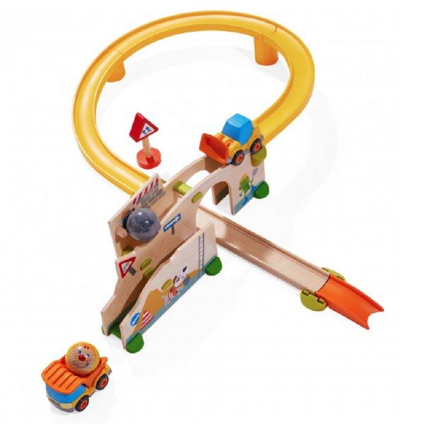 [ HABA ハバ ]  グラビュー 働く車セット グラビューカーシリーズ ドイツ 1歳半 ブラザージョルダン 玉転がし スロープ 組み立て ピタゴラスイッチ 積み木