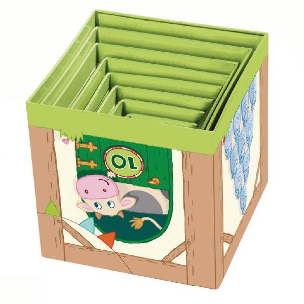 [ HABA ハバ ]  スタッキングキューブ どうぶつ ドイツ 1歳 ブラザージョルダン 数字 動物 ベビートイ ブロック 知育玩具