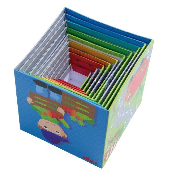 [ HABA ハバ ]  スタッキングキューブ のりもの ドイツ 1歳 ブラザージョルダン 数字 動物 ベビートイ ブロック 知育玩具