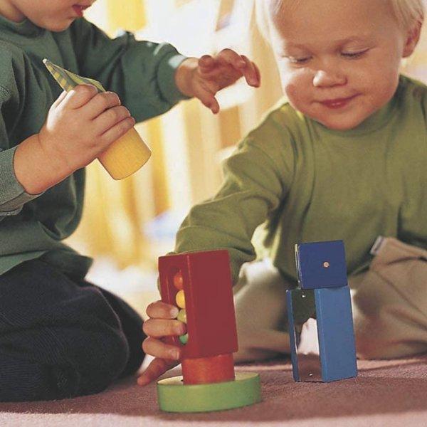[ HABA ハバ ]  ベビーブロック バラエティ ドイツ 1歳 ブラザージョルダン 積み木 パズル ブロック 知育玩具