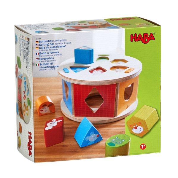 [ HABA ハバ ]  型はめボックス かわいい動物 ドイツ 1歳 ブラザージョルダン 木製 知育玩具 積み木 かたち