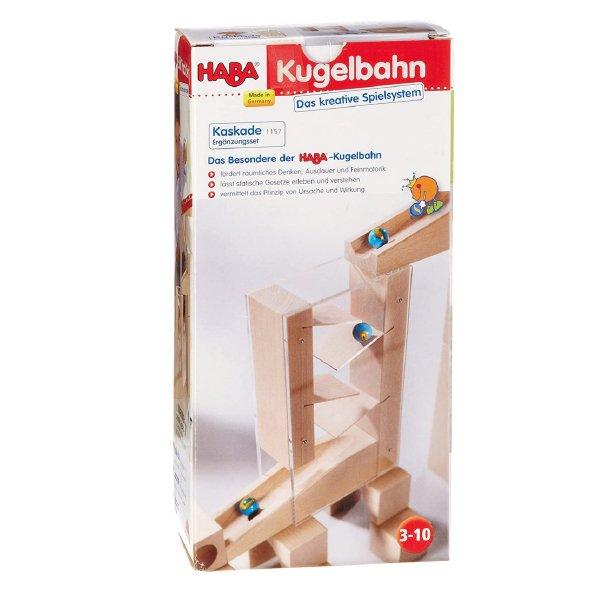 [ HABA ハバ ]  階段セット 組み立てクーゲルバーン追加パーツ ドイツ 4歳 ブラザージョルダン ビー玉転がし スロープ ピタゴラスイッチ 積み木