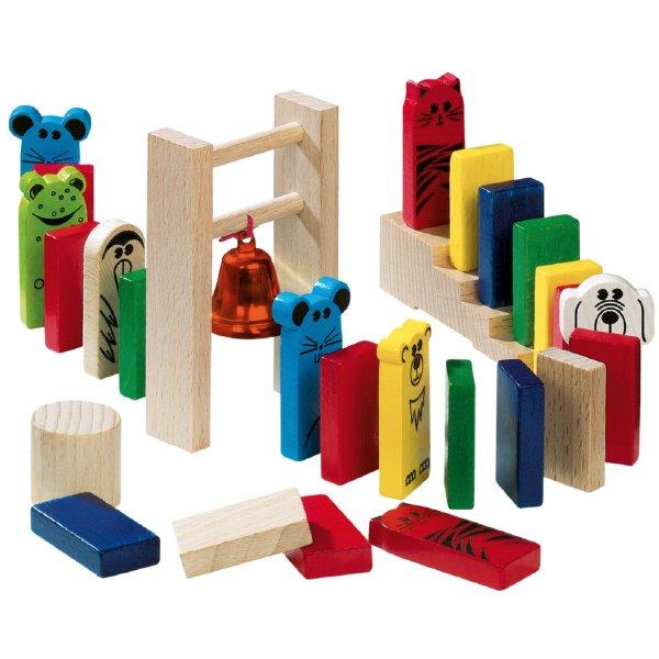 [ HABA ハバ ]  アニマルドミのレース ドイツ 1歳 ブラザージョルダン 積木 積み木 知育玩具