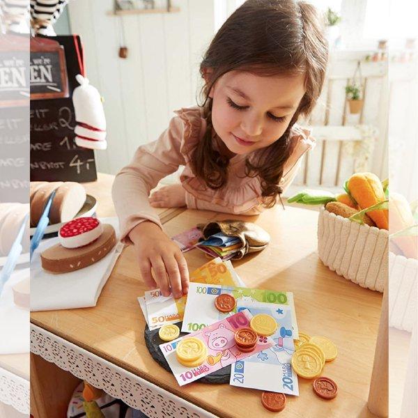[ HABA ハバ ]  おこさま通貨 ユーロ ドイツ 3歳 ブラザージョルダン おままごと ごっこ遊び  こども銀行 玩具のお金 ミニセット