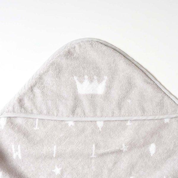[ FICELLE フィセル - 10mois ディモア ]バスエプロン 王冠 アルファベット おくるみ お風呂 沐浴