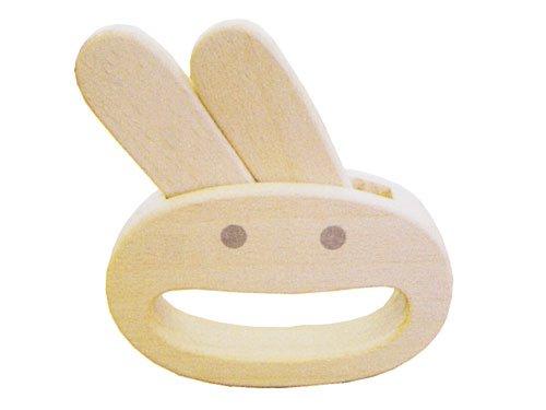 【メール便可】[木遊舎] ガラガラ ウサギ Usagi