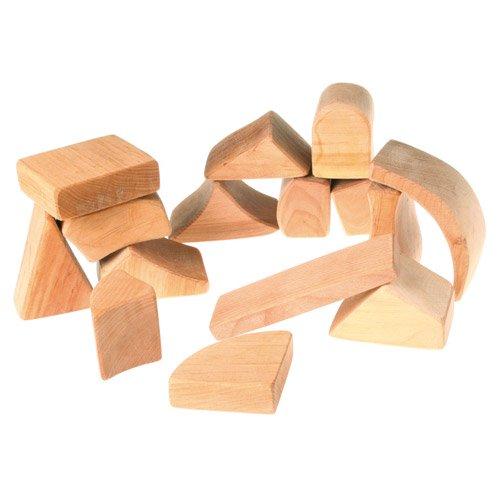 [Grimm's Spiel & Holz Design グリムス社]シュタイナー積み木 ナチュラル 大