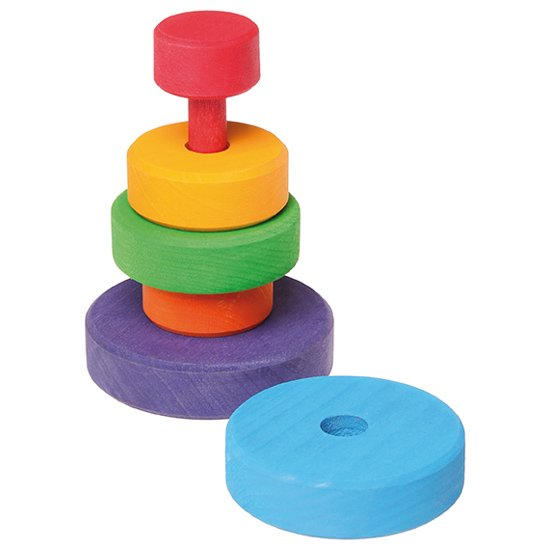 [Grimm's Spiel & Holz Design グリムス社]スタッキングタワー 円錐つみき 小