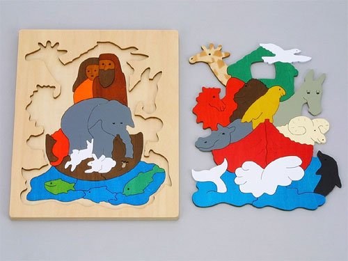 [George Luck ジョージ・ラック]木製2重パズル ノアの方舟