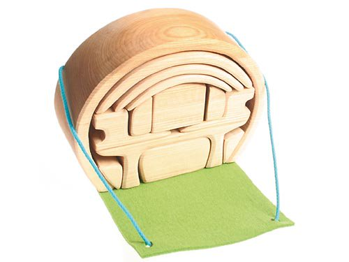 [Grimm's Spiel & Holz Design グリムス社]スマートハウス 積み木のドールハウス ナチュラル