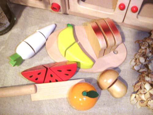 [ダイワ]ミニキッチンシリーズ 木箱入り食材・包丁・まな板のセットC