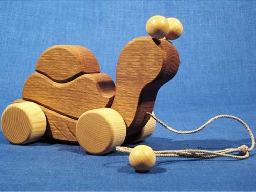 [Wooden Frog ウッデンフロッグ]プルトーイ かたつむり