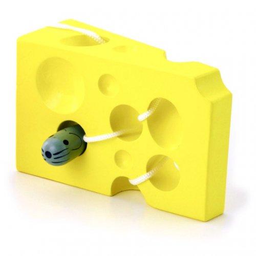 [平和工業]VIGA TOY チーズのひも通し