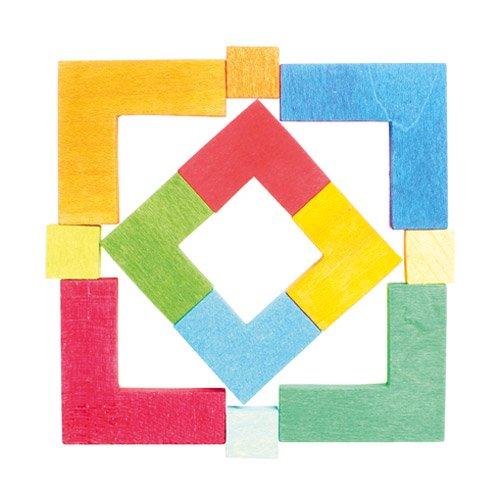 [Grimm's Spiel & Holz Design グリムス社]クリエイティブパズル 四角形 12P