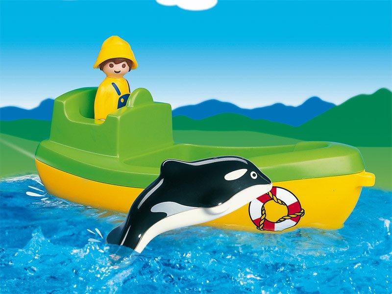 [PLAYMOBIL プレイモービル]1.2.3 シャチとボート