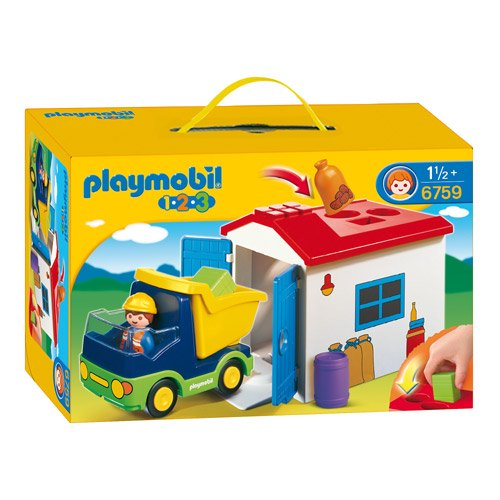 [PLAYMOBIL プレイモービル]1.2.3 ガレージとトラック