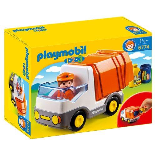 [PLAYMOBIL プレイモービル]1.2.3 ゴミ収集車