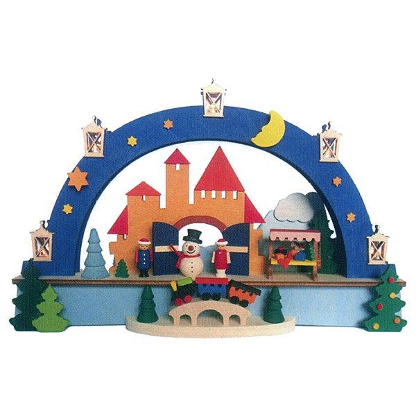[Graupner グラウプナー]LEDライト付シュヴィップボーゲン クリスマスマーケット