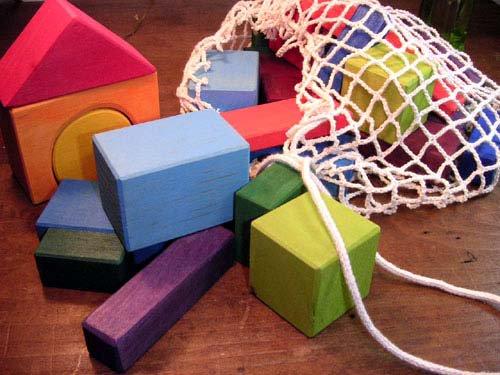 [Grimm's Spiel & Holz Design グリムス社] カラー幾何学積み木30P