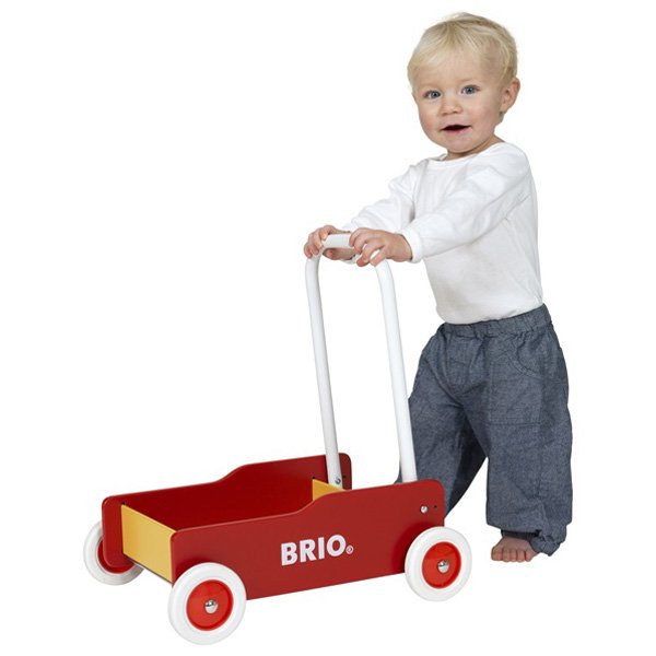 [BRIO ブリオ]手押し車(赤)