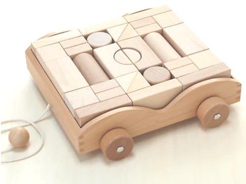 [ダイワ]ナチュラルな積み木車
