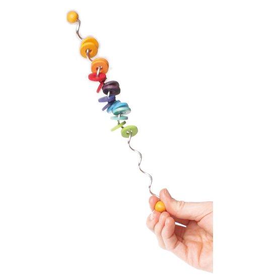 [Grimm's Spiel & Holz Design グリムス社]虹のスティック リングウエーブ 小
