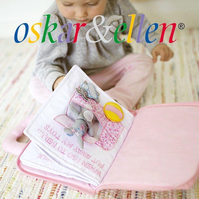[Oskar & Ellen オスカー&エレン]布絵本 グッドナイトブック ピンク(うさぎ)