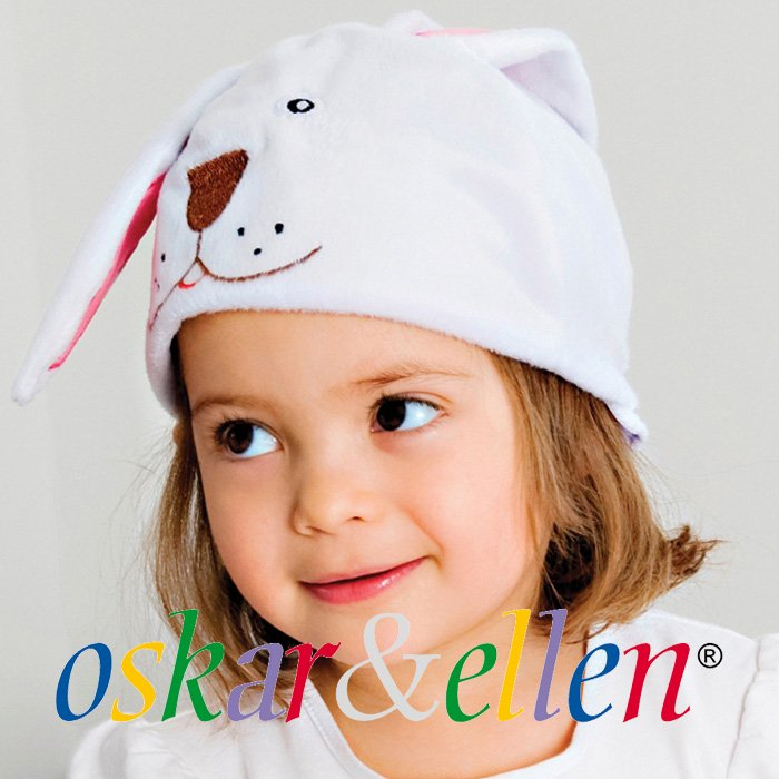 [Oskar & Ellen オスカー&エレン]アニマル ハット&テール うさぎ