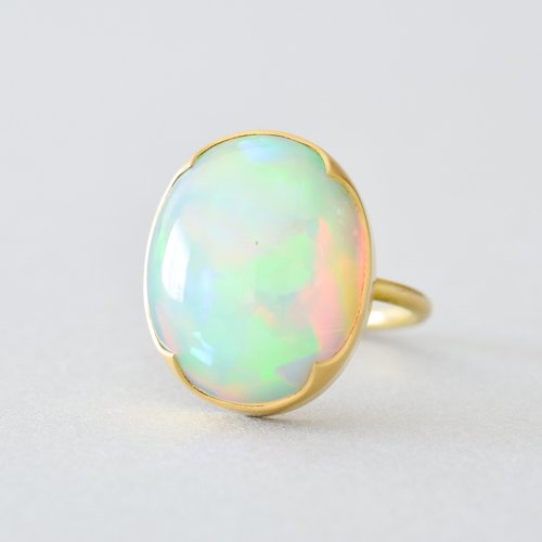 Large Oval Ethiopian Opal Ring Gabriella Kiss Source