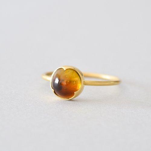 Small Round Yellow Tourmaline Ring Gabriella Kiss 75 600円 税込