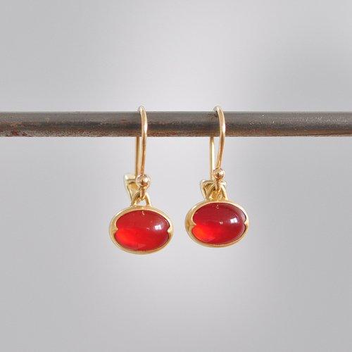 Oval Mexican Fire Opal Earrings Gabriella Kiss