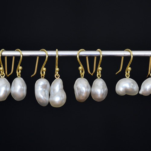 Large Keshi Pearl Hanging Earrings Source Source Objects