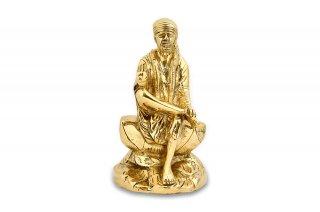 シルディ・サイババ神像(真鍮製、シンプル)(受注製作)